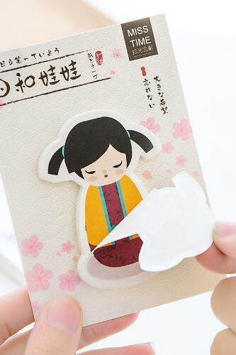 Kokeshi - Karteczki samoprzylepne
