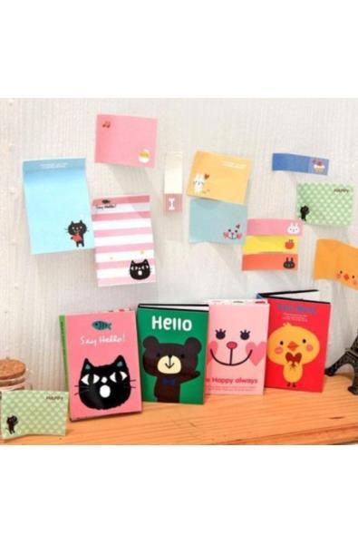 Karteczki samoprzylepne w składanej książeczce