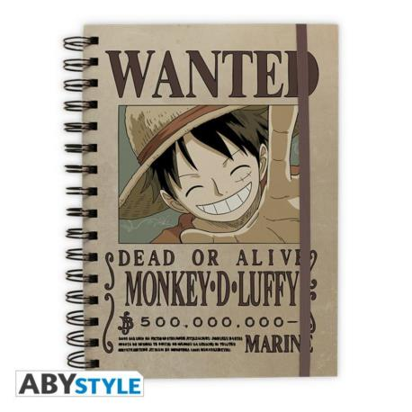 "One piece - notes ""Wanted Luffy"""
