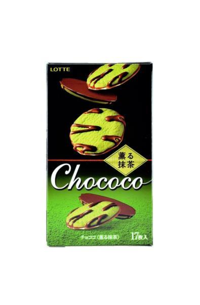 Lotte ciasteczka Chococo Kaoru Matcha