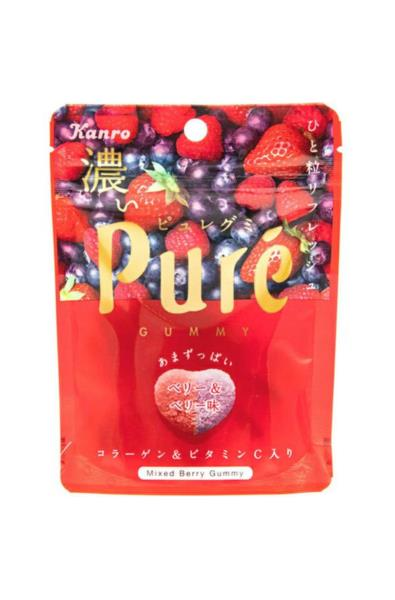 Kanro żelki Pure mix jagód