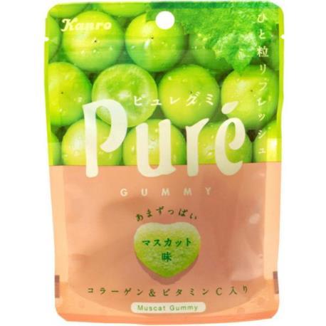 Kanro żelki Pure o smaku jasnych winogron