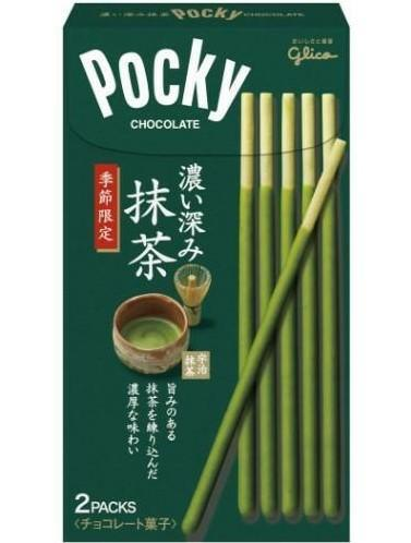 Pocky z podwójną porcją zielonej herbaty
