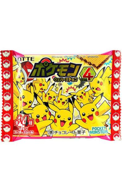Lotte Pokemon - czekoladowy wafelek z naklejką