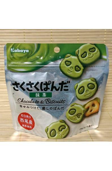 Kabaya ciasteczka zielona herbata Sakusaku Panda