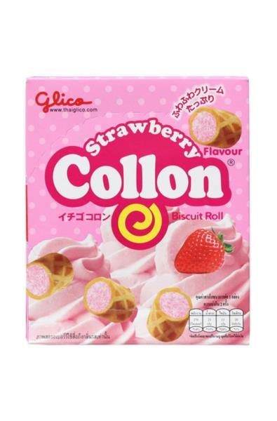 Glico Cream Collon o smaku truskawkowym