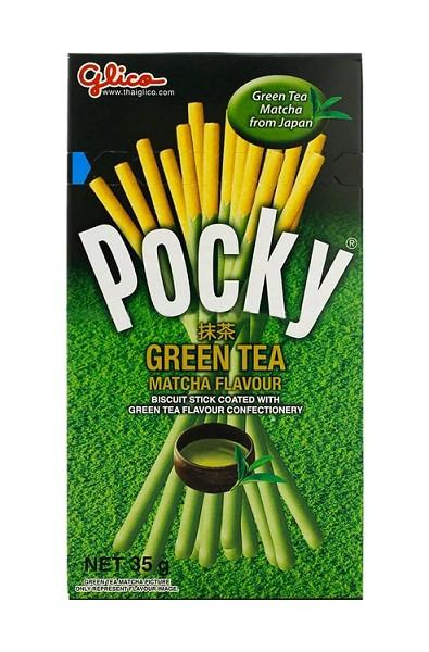 Pocky z zieloną herbatą