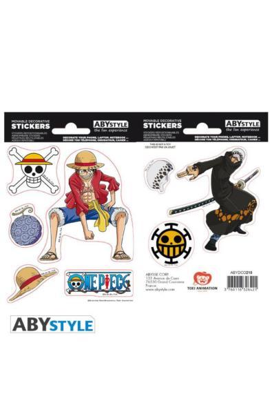One Piece - naklejki Luffy & Law