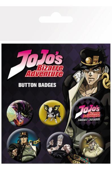Jojo`s Bizzare Adventure - zestaw przypinek
